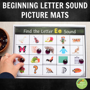 Beginning Letter Sound Picture Mats