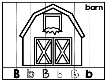 Beginning Letter Sound Picture Puzzles