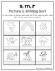 Beginning Letter Sound Picture Sorts & Spelling/Writing Sorts