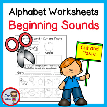 NO PREP*  Reading Beginning Sounds and Writing  - Kindergarten