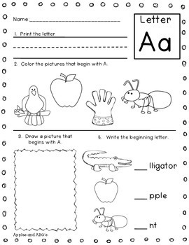 Beginning Letter Sound Printables