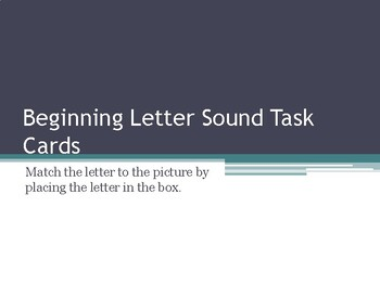 Beginning Letter Sound Recognition