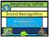 Beginning Letter Sound Recognition: Tracing Letters, Cut & Paste, and Drawing