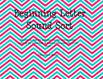 Beginning Letter Sound Sort