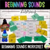 Beginning Letter Sound, Sort, Match or Memory