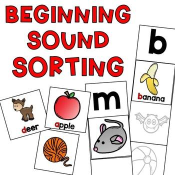 Beginning Letter Sound Sorting Activity
