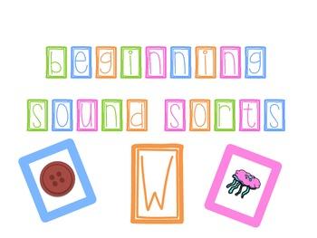 Beginning Letter Sound Sorts FREEBIE