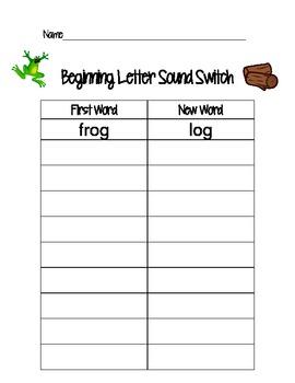 Beginning Letter Sound Switch