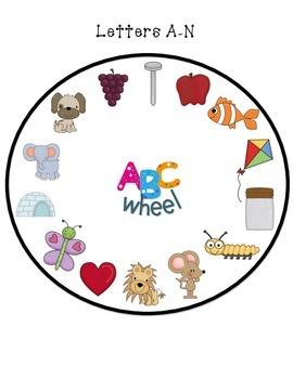 Beginning Letter Sound Wheel
