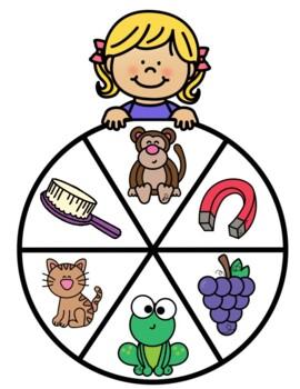 Beginning Letter Sound Wheels In Spanish