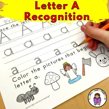 Letter A Worksheets-15 Beginning Sound Letter of the Week A Alphabet Activities