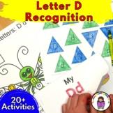 Letter D Worksheets-15 Beginning Sound Letter of the Week D Alphabet Activities