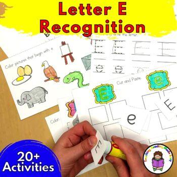Beginning Letter Sound Worksheets & Activities: Letter E