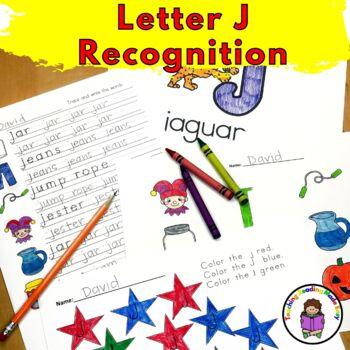 Letter of the Week:  Letter J -Beginning Letter Sound Worksheets & Activities