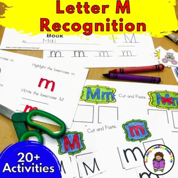 Letter of the Week:  Letter M -Beginning Letter Sound Worksheets & Activities