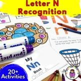 Letter N Worksheets-15 Beginning Sound Letter of the Week N Alphabet Activities