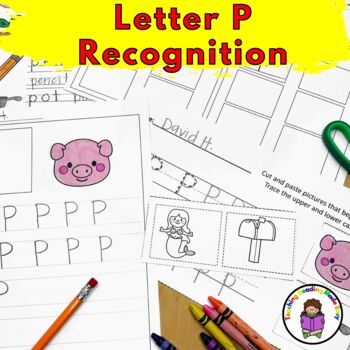 Letter P Worksheets-15 Beginning Sound Letter of the Week P Alphabet Activities