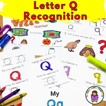 Letter Q Worksheets-15 Beginning Sound Letter of the Week Q Alphabet Activities