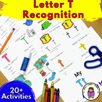 Letter of the Week:  Letter T -Beginning Letter Sound Worksheets & Activities