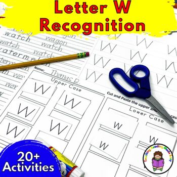 Letter W Worksheets & Activities-15 Letter of the Week W Worksheets