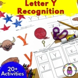 Letter Y Worksheets-15 Beginning Sound Letter of the Week Y Alphabet Activities