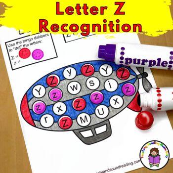 Letter of the Week:  Letter Z -Beginning Letter Sound Worksheets & Activities