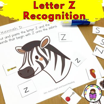 Letter Z - Letter of the Week: 15 Beginning Letter Sound Activities