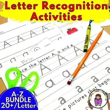 Kindergarten Letter of the Week A-Z BUNDLE -18 Alphabet Activities per letter!