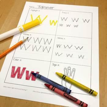 Letter Recognition Worksheets + Distance Learning Letter Slides (Letter of Week)