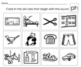 Beginning Letter Sounds Activities: Digraphs Th,Sh,Ch,Wh,Ph,Wr  Set #5