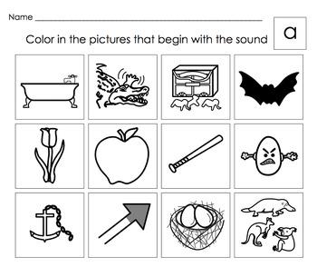 beginning letter sounds activities letters a short b c d e short f set 1. Black Bedroom Furniture Sets. Home Design Ideas