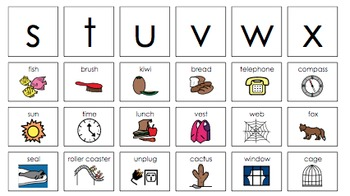 Beginning Letter Sounds Activities: Letters S,T,U (short),V,W,X,Y,Z  Set #4
