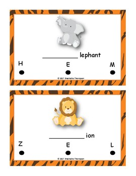Beginning Letter Sounds Activity (Animal and Bug Theme)