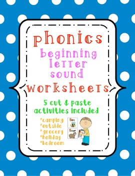 Beginning Letter Sounds Center Activity