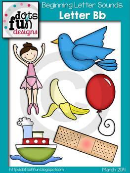 Beginning Letter Sounds Clip Art: Letter B ~Dots of Fun Designs~