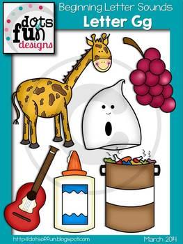 Beginning Letter Sounds Clip Art: Letter G ~Dots of Fun Designs~