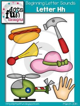 Beginning Letter Sounds Clip Art: Letter H ~Dots of Fun Designs~