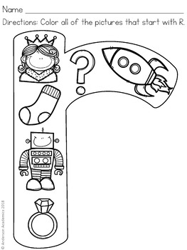Beginning Letter Sounds - Coloring Sheets