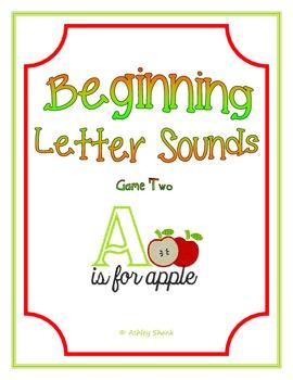 Beginning Letter Sounds File Folder Game (Game 2)