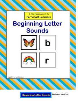 Beginning Letter Sounds File Folder {Kindergarten/Autism/Special Education}