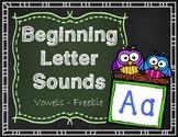Beginning Letter Sounds Freebie - Vowels