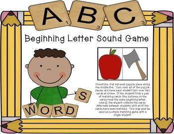 Beginning Letter Sounds Game