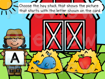 Beginning Letter Sounds Google Classroom ELA Unit + PPT & BOOM Cards Deck!