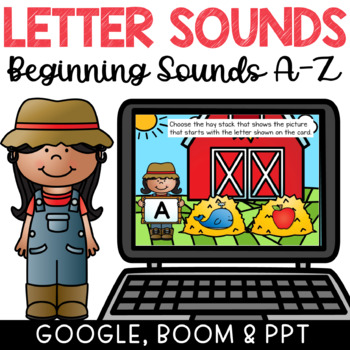 Beginning Letter Sounds with Pictures Digital Activity PPT, GOOGLE, BOOM Cards