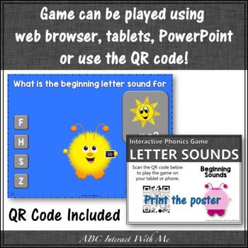 Beginning Letter Sounds Interactive Alphabet Game {Fuzzy Monster}