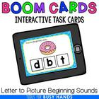 Beginning Letter Sounds Interactive Digital Task Cards