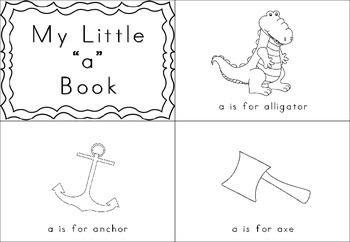 Beginning Letter Sounds - Little Books - Black and White