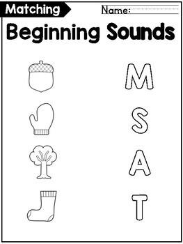 Beginning Letter Sounds Match FREEBIE!