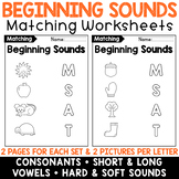 Beginning Sounds Worksheets: 26 Pages to Practice Letter Sound Recognition