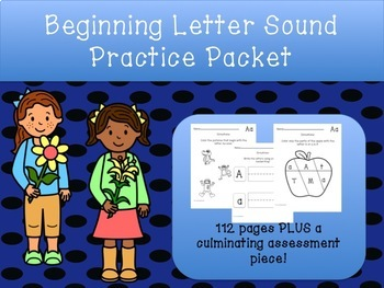 Beginning Letter Sounds Worksheets-112 pages!!!
